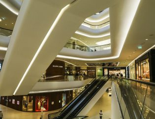 Intérieur d'un grand magasin