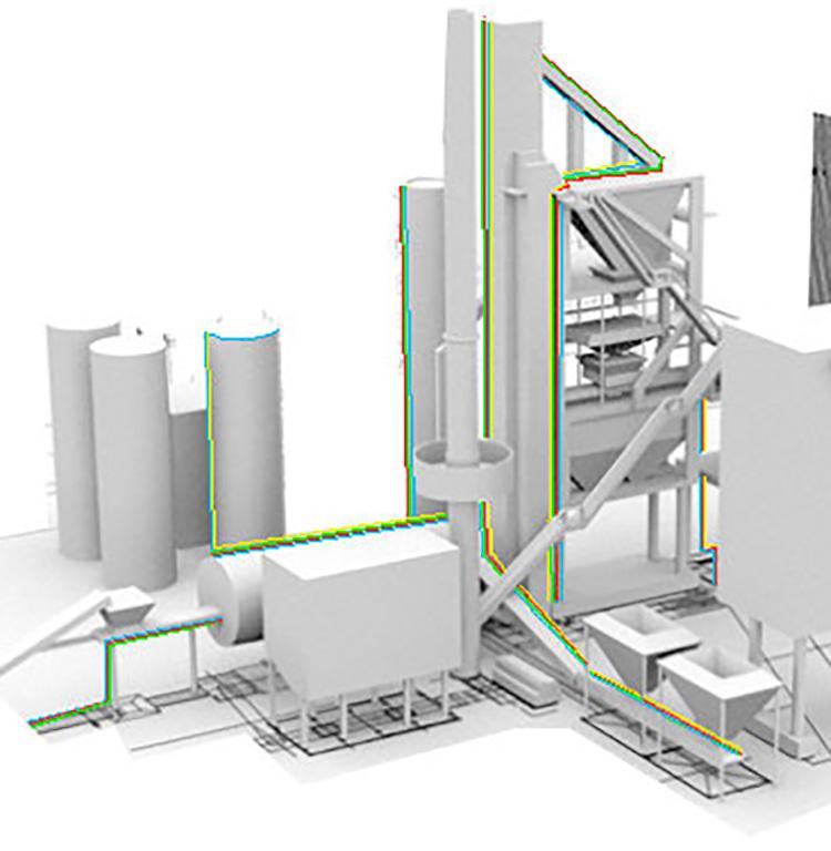 Plan/schéma transport tube pneumatique - Industriels
