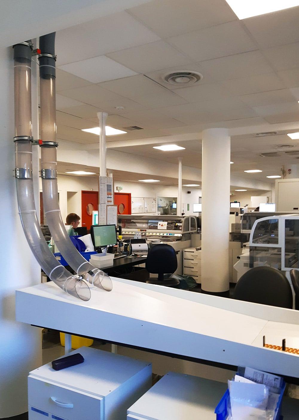 Chantier Institut Mutualiste Montsouris - Stations tubes pneumatiques