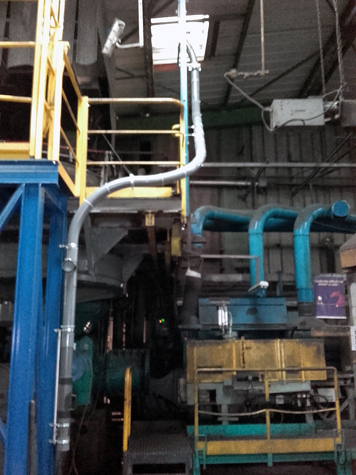 Chantier TRB - Tubes pneumatiques